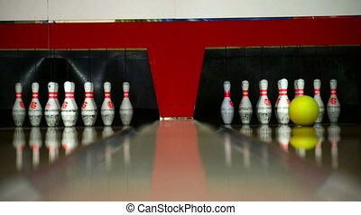 Bowling at leisure center