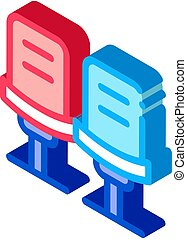 Bowling Ball Bag isometric icon vector illustration