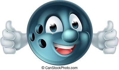 Bowling Ball Cartoon Person