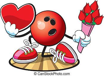 Bowling Ball character - Vector illustration of a bowling ...