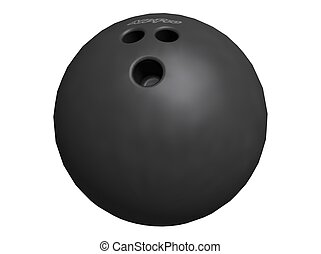 Bowling Ball - 3D Illustration of a bowling-ball