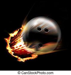 Bowling ball fire