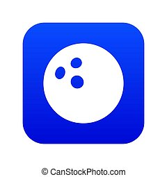 Bowling ball icon blue