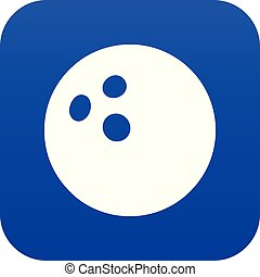 Bowling ball icon blue vector