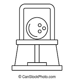 Bowling ball icon, outline style