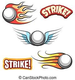 Bowling ball icons