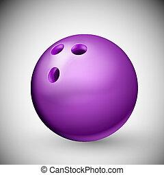 Bowling Ball - Isolated purple bowling ball. Eps 10