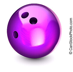 Bowling ball on a white background