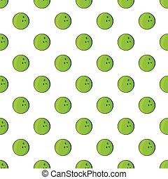 Bowling ball pattern, cartoon style