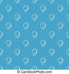 Bowling ball pattern vector seamless blue