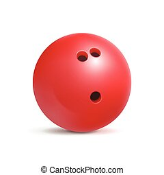 Bowling ball. Sport equipment for game. Leisure and fun.