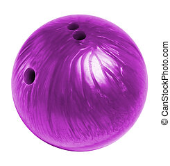 bowling ball on white background