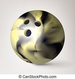 Bowling Ball Vector. 3D Realistic Illustration. Glossy, Shiny And Clean
