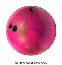 Bowling Ball. Vector mesh - Bowling ball on white background