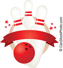 bowling banner illustration