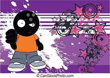 bowling, cartone animato, background1, capretto