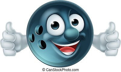 Bowling Cartoon Character - Cartoon bowling ball man mascot...