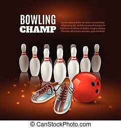 Bowling Champ 3D Illustration