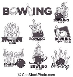 Bowling club sketch vector championship ball