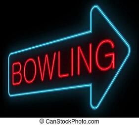 Bowling concept.