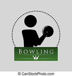 Bowling design. Sport icon. Flat illustration , vector