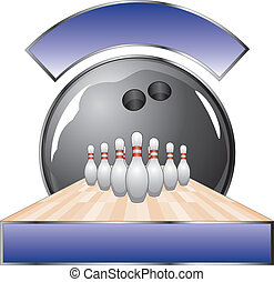 Bowling Design Template Lane - Illustration of a bowling...