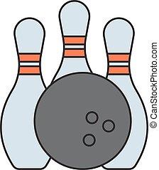 Bowling emblem.