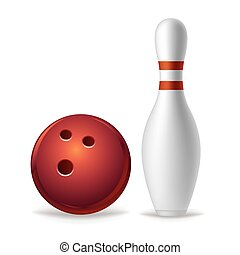 bowling equipment - bowling on a white background