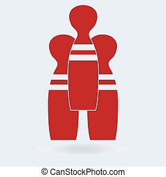 Bowling game sign icon. bowling pin skittle symbol