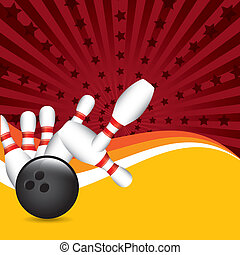 bowling grunge - bowling design over grunge background...
