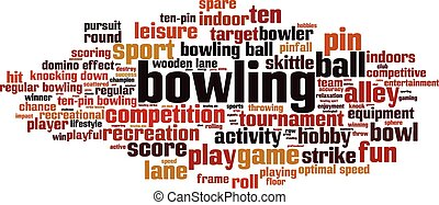 Bowling-horizon [Converted].eps - Bowling word cloud concept...