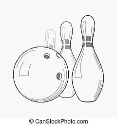 Bowling icon line element. Vector illustration of bowling icon line isolated on clean background for your web mobile app logo design.
