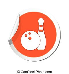 Bowling icon. Vector illustration