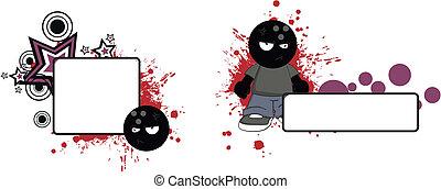 bowling kid cartoon copyspace2