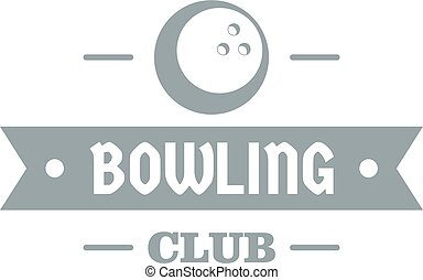 Bowling logo, simple gray style