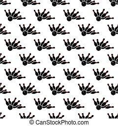 Bowling pattern seamless