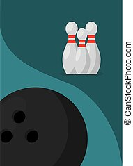 bowling pins ball game sport image