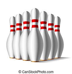 Bowling pins - Vector illustration of a bowling pins