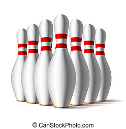 Bowling pins - Vector illustration of a bowling pins