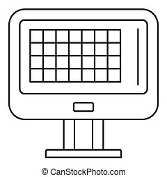 Bowling score table icon, outline style