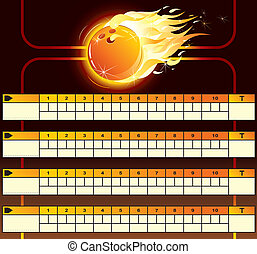 Bowling scoreboard vector background for your text