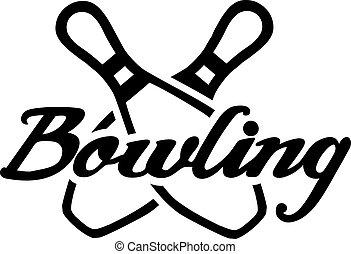 Crossed Bowling Pins