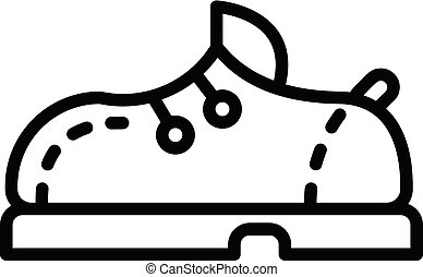 Bowling shoe icon, outline style