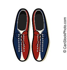 Bowling shoes vector icon