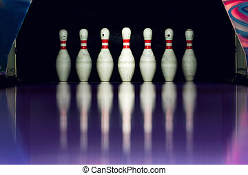 Bowling. Skittles in the alley.