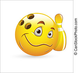 Bowling Smiley Icon Vector