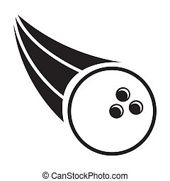 bowling speed over white background vector illustration