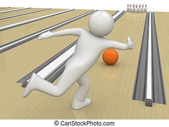 bowling, -, sporten, verzameling