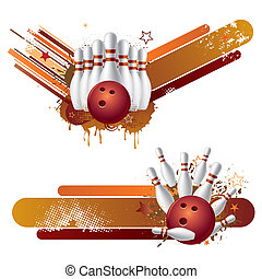 bowling strike design - vector illustration of bowling...