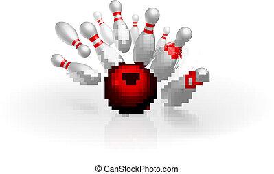 Bowling strike vector illustration